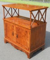 Yew Two Tier Side Cabinet